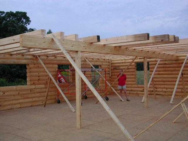 A house under construction; Actual size=240 pixels wide